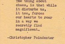 Christopher Poindexter Quotes / Poetry / by Rachael Charlton Allison