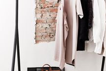 Closet space organization / Beautiful wardrobes and neatly organized shoes