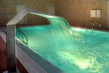 Indoor Swimming Pool with Waterfalls / Swimming Pool Waterfalls increase the enjoyment of every swimming pool by providing the soothing sound and shimmering sight of falling water.