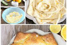 Citrus gâteau citron forme fleur