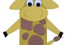 paper bag giraffe