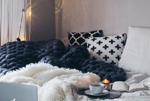C o m f y + C o z y . / Big blankets, Netflix + Chill, and Coffee of course.