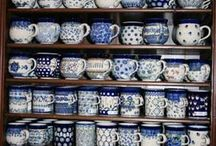 Servies bunzlau castle polish pottery