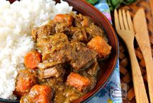 Sweer curry beef