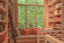 """Home Libraries / """"We may sit in our library and yet be in all quarters of the earth."""" John Lubbock"""