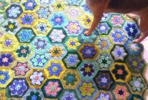my crochet - african flowers, big blankets