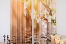 3D závesy s motívmi kvetov / Kvetové závesy pre vašu izbu