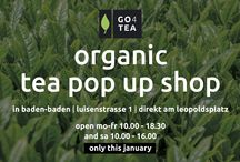 "Our first ""organic tea pop up shop"""