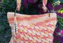 Bolso crochet trapillo multicolor