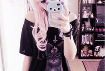 emo beauty girl