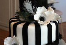 cakes-black&white / Romantic Cakes, Wedding Cakes...