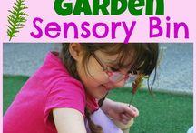 Sensory bin ideas.