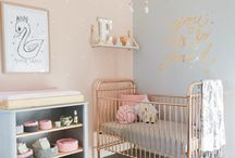 Stella's room / Nursery, peach and grey