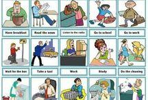 Angol tevékenységek daily routines