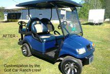 Collegiate Themed Golf Cars & Carts / Get your favorite team themed golf cart @ Golf Car Ranch, we can accessories your car with flags, decal, enclosures, seats, pin stripped, color coordinated roofs and wind-shields.   Accessories  ONline catalog: https://www.onlinecatalogsystem.net/catalog/HollyLakeGolfCarRanch/browsemanuf.htmGolf Car Ranch Holly Lake Ranch, TX  903-769-3600