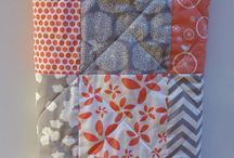 Coral baby girl quilt