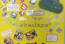 Using Technology / This board contains a variety of technology related displays and ideas as to how we are embedding different technology into all of our lessons.