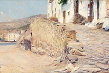 Cadaqués, Girona. / Eliseo Meifrén Roig. Pinturas al óleo de Cadaqués, Girona.