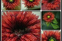 arboles y flores en mostacillas