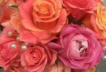 Coral & Peach wedding  flowers