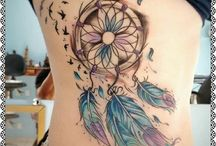 Tattoos with dreamcatcher