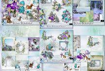CT Louise / Pages de scrap digital réalisées avec les kits de Louise