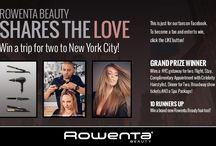 """Rowenta Beauty """"Shares the Love"""" Giveaway  / Rowenta Beauty is Sharing the Love for the ENTIRE month of February. By liking our Facebook page (Rowenta Beauty USA) and entering the contest you could win a free trip for 2 to NYC!  / by Rowenta Beauty"""