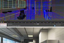 Interior Design / Architecture modeling project in 3D Studio Max