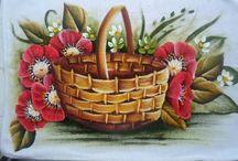 cómo pintar una cesta