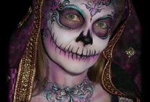 Face painting skulls and sugar skulls / Face painting designs / by The Face Painting School
