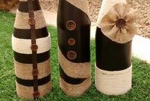 garrafas rústica