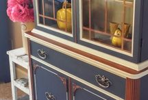 Make over on antique cabinet / Check out each detail