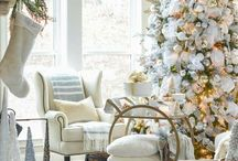 ! ~White Christmas~ ! / white christmas, neutral christmas, white christmas decor, christmas decor, christmas decorating ideas, christmas home decor, christmas outdoor decor, christmas table setting, christmas centerpiece, christmas tree decor, french country christmas, christmas decorating,