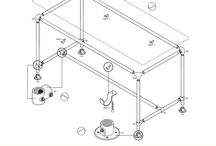 Werktekeningen - Steigerbuis & Buiskoppelingen / Hier vindt u een uitgebreide collectie werktekeningen voor verschillende meubels. De meeste tekeningen moeten nog worden voorzien van aanvullende gegevens, maar ze zijn al prima bruikbaar!
