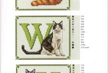 Punto de cruz / Lindos gatitos
