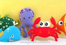 Fundo do mar / Ideias para decoração  de festa Fundo do Mar