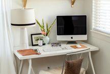 Home office/ Para trabalhar e criar / Decoração de Home office e boas ideias para decorar e organizar estes cantinhos.