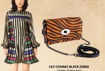 Marlafiji Lily Zebra bag