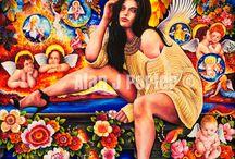 Madonna / The Oil paintings from the English artist Alan John Porter. #alanjporterart #kompas #art #madonna #painting #oil #beauty #angels #woman