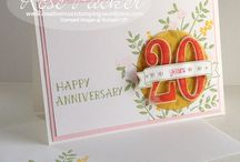 Number of Year framelits / Large Numbers stamp set