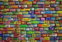 Chewing (bubble) gums wrappers & inserts / Вкладыши и обертки от жевательной резинки