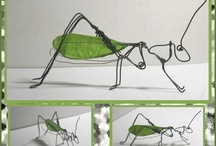 wire art - insects