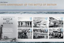 Battle of Britain Stamps / A new set of Battle of Britain stamps have also been launched to mark the 75th anniversary of the conflict. A snapshot of this battle which was one of the turning points of the Second World War has been captured in a set of six special stamps. / by Post Office