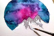 akvarelky