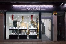 Alexandra's Of Alsager / Specialising in wedding bands and engagements rings. They offer wedding bands in different carats, all colour gold's and metals which can all be specially made to suit any taste including adding more or less diamonds. Your engagement ring can made up with you choosing your diamond, setting and shank so it is your design with no compromising. www.onestopweddingshopstaffordshire.co.uk