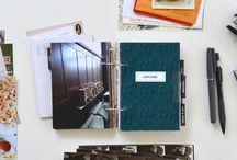 PLANNER & ALBUMS / Planner, agendas, planificadores, diarios, álbumes, project live.  Utiliza tu álbum para lo que quieras todo dependerá de los complementos que le pongas! Fundas de plástico, cartulinas de colores, papel de acuarelas, papel largo...