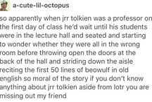 Tolkien and TLotR