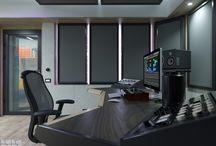 sound spaces / Music studio, listening room, home theater Музыкальные студия, комната прослушивания, домашний кинотеатр
