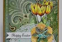 Easter Creations @ Pickled Potpourri / Easter creations featuring digital stamps and papers from Pickled Potpourri