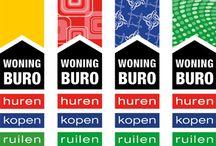 Woningburo / Het Woningburo is specialist in het aanbieden van sociale woningen, zowel huren, kopen als ruilen. De eenvoudige vernieuwde huisstijl biedt de klant direct een duidelijk overzicht. De diverse diensten worden ondersteund met een eigen kleur en patroon.